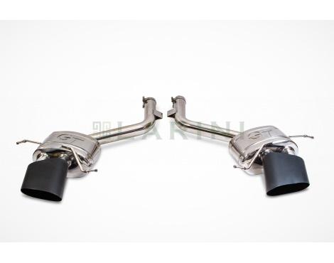 larini 'sports' exhaust rear boxes (diamond black oval tips)
